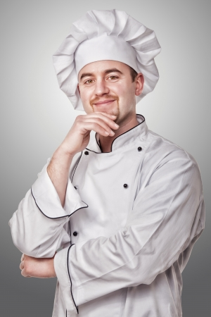 confident chef portrait studio shot photo