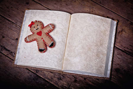 wishlist: traditional christmas wishlist book background