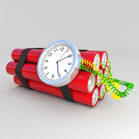 3d image of time bomb photo
