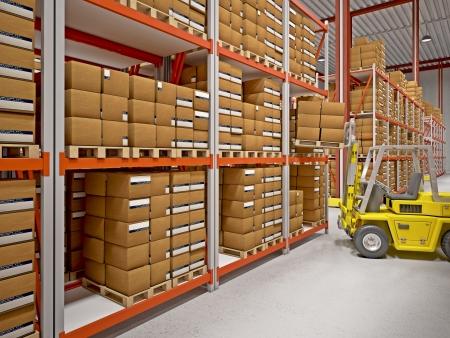 buena imagen 3d de almacén clásico