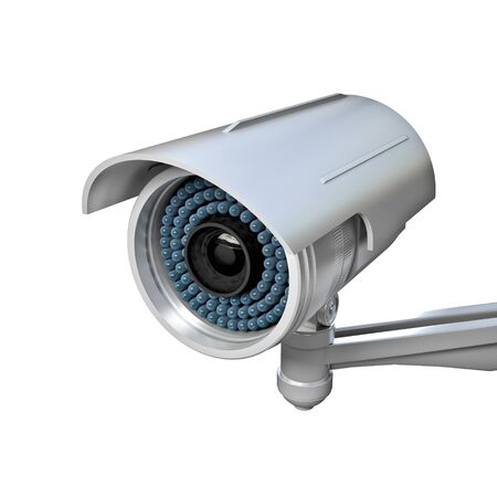 3d image of classic infrared cctv Stock Photo - 16907295