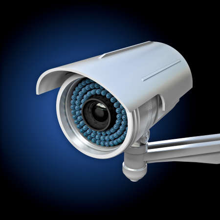3d image of classic infrared cctv Stock Photo - 16907304