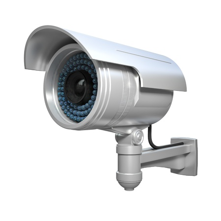 3d image of classic infrared cctv Stock Photo - 16907294