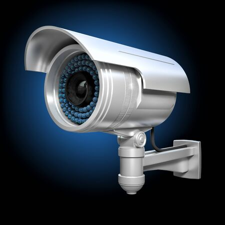 deterrent: 3d image of classic infrared cctv