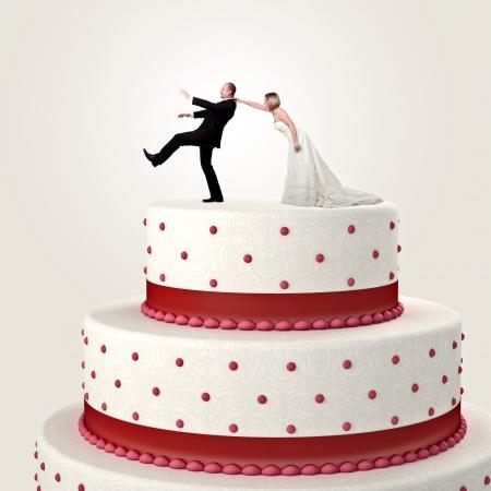 gromm tratar de escapar de torta de la boda Topper