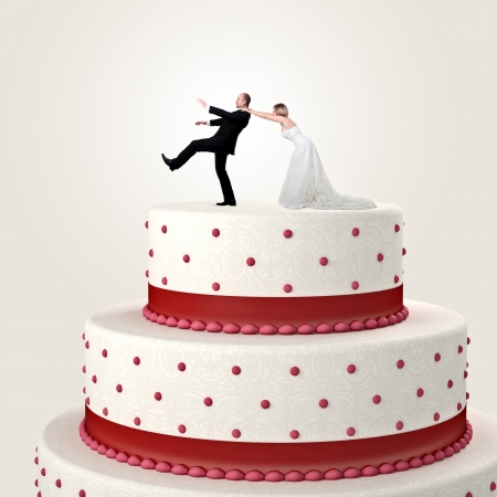 3d wedding cake and funny couple situation