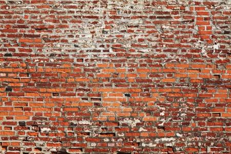 broken brick: detail of ancient brick wall