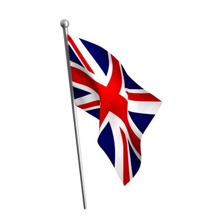 union flag: england flag isolated on white