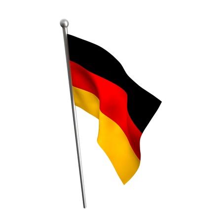 germany flag: german flag isolated on white background Stock Photo