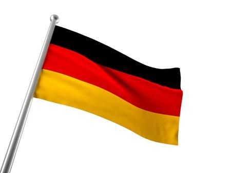 german flag: german flag isolated on white background Stock Photo