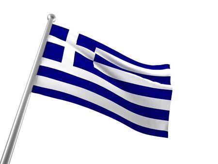greek flag: greek flag isolated on white