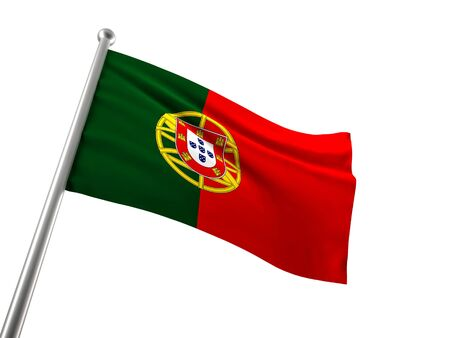 portugal flag on white background photo