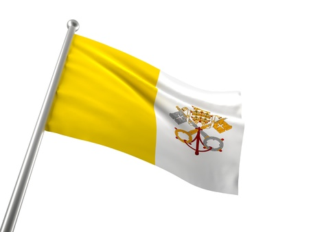 vatican flag isolated on white