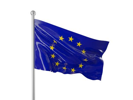 european flag isolated on white photo