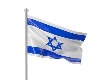 flag of israel: israel flag isolated on white