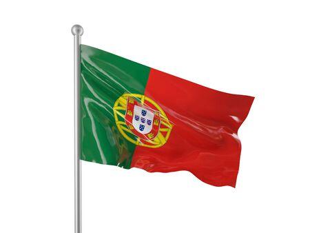 portugal flag: portugal flag on white background