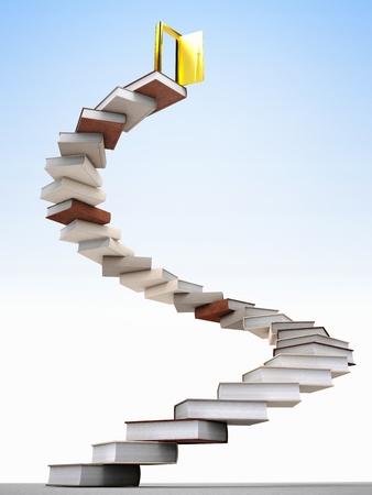 golden door over knowledge stair