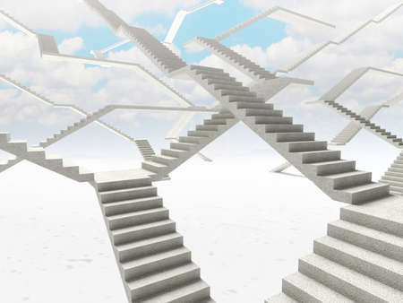 3d image of abstract stairs  background Stock Photo - 19092528