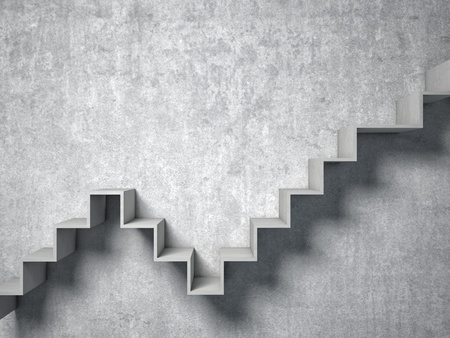 concrete stairs: 3d image of concrete abstract stair