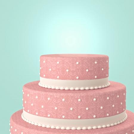 wedding cake: 3d image of classic  wedding cake  Stock Photo