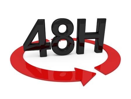 3D-beeld van 48 uur op een witte achtergrond Stockfoto - 20883500