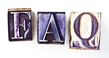 frequently: Frequently asked questions rubber stamp