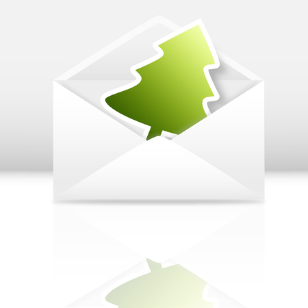 vector image of a christmas greetings card photo