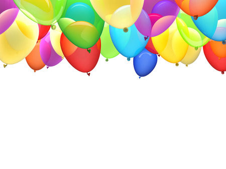 balloons party: 3d image of flying ballons