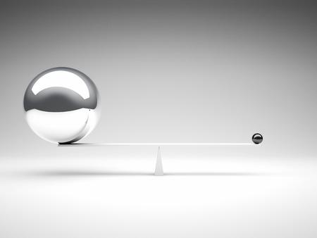 balanced: 3d image of different balanced balls