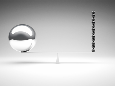 strenght: 3d image of different balanced balls