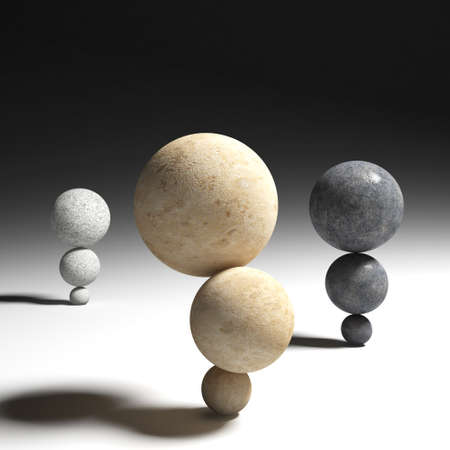 3d image of stone sphere Stock Photo - 22692327