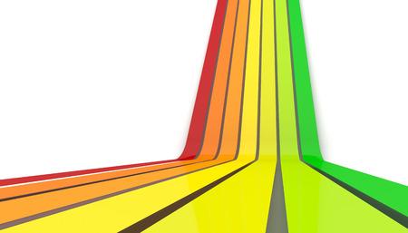 3d image of  efficiency arrows Stock Photo