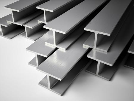 Immagine 3D di strutture in acciaio Archivio Fotografico - 23304496