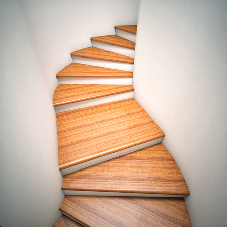 classic house: 3d image of wood stair