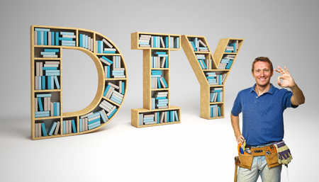 craftman: worker and diy 3d text