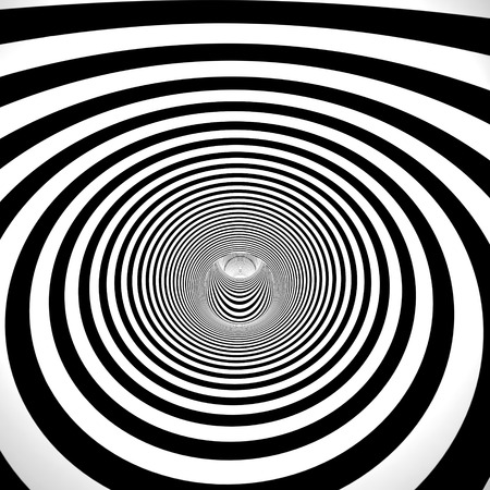 abstract 3d black and white tunnel photo
