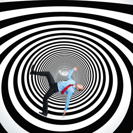 bn: falling man and 3d abstract tunnel