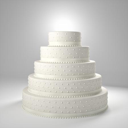 3d image of classic wedding cake