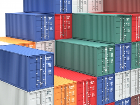 cargo container: 3d image of colorful container