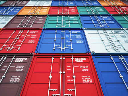 container: 3d image of colorful container