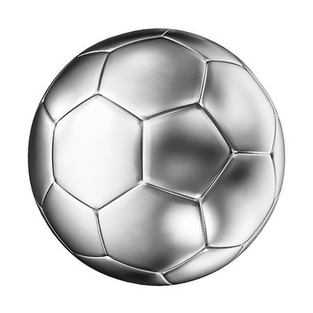 3d ball: 3d image of silver soccer ball