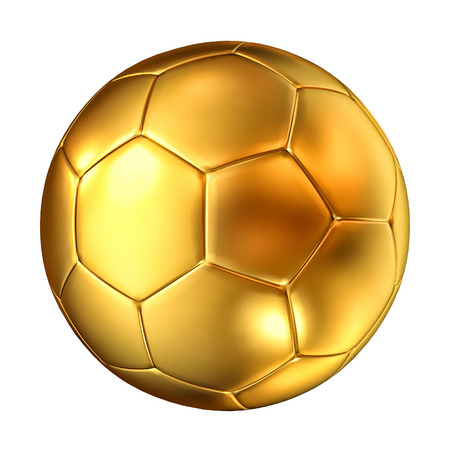 3d ball: 3d image of classic golden soccer ball