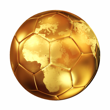 world cup soccer golden  ball Stock Photo