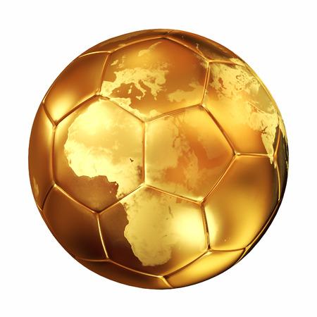 world cup soccer golden  ball photo
