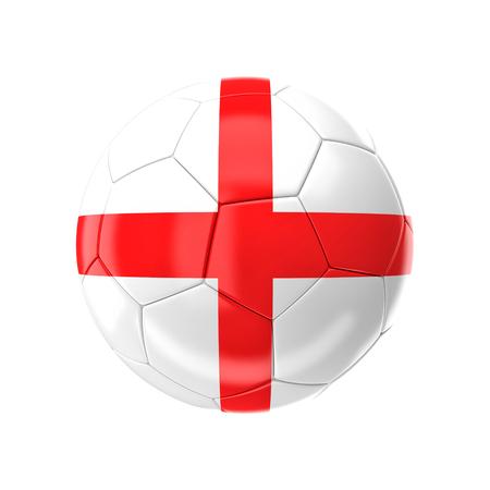 bandera inglaterra: Balón de fútbol 3D con la bandera de Inglaterra
