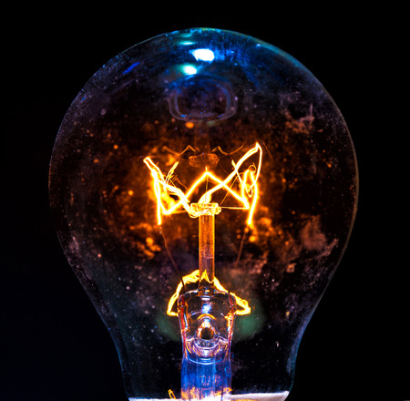 close up image of electric bulb  photo