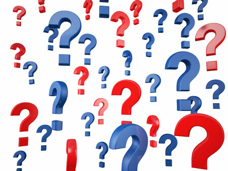 proble: 3d question mark on white background