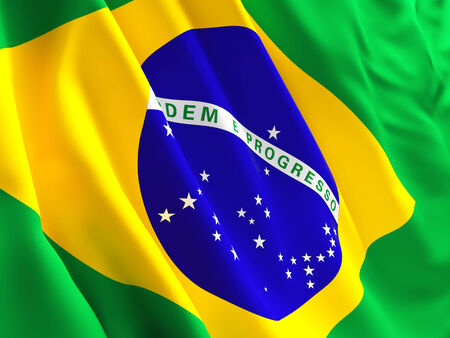 brazil symbol: 3d image of brazil flag