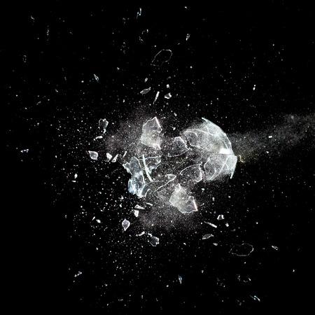 close-up beeld van de glazen bol explosie