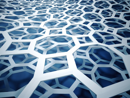 3d image of abstract hexagon background